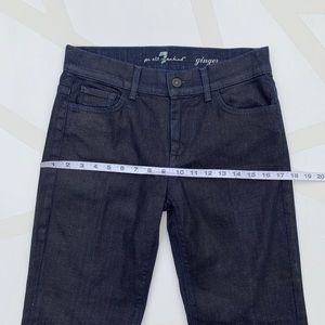 7 for all Mankind Jeans - 7 For All Mankind Ginger Flare Jean Dark Coated 28